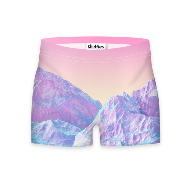 Pastel Mountains Workout Shorts-Shelfies-| All-Over-Print Everywhere - Designed to Make You Smile
