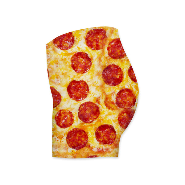 Pizza Invasion Workout Shorts-Shelfies-| All-Over-Print Everywhere - Designed to Make You Smile