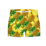War Of The Pineapple Workout Shorts-Shelfies-| All-Over-Print Everywhere - Designed to Make You Smile
