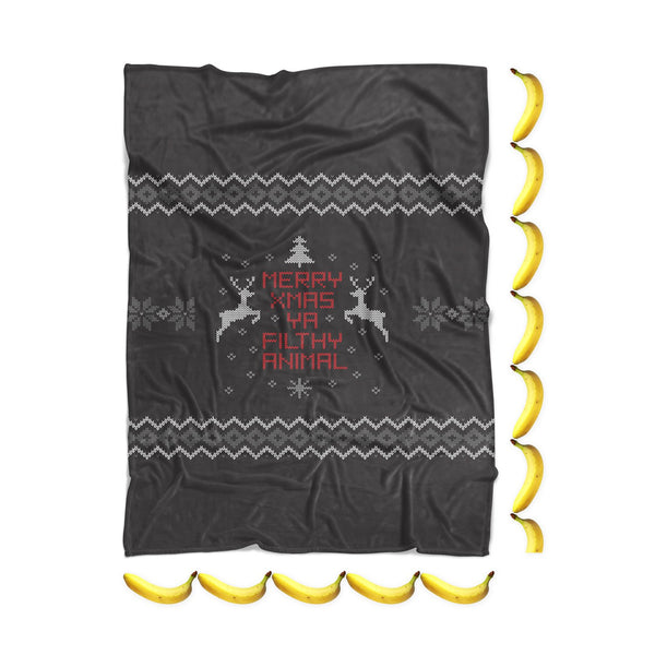 Merry X-Mas Ya Filthy Animal Blanket-Gooten-| All-Over-Print Everywhere - Designed to Make You Smile