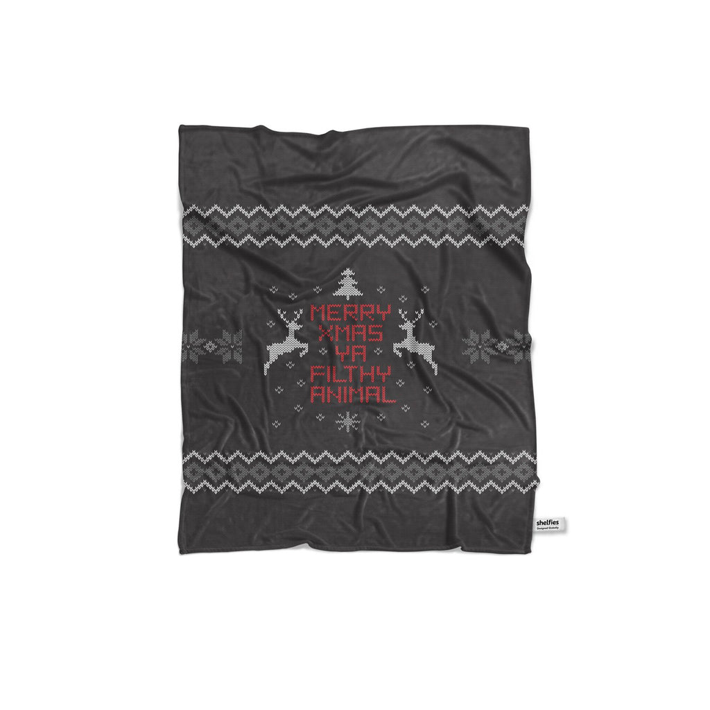 Merry X-Mas Ya Filthy Animal Blanket-Gooten-Regular-| All-Over-Print Everywhere - Designed to Make You Smile