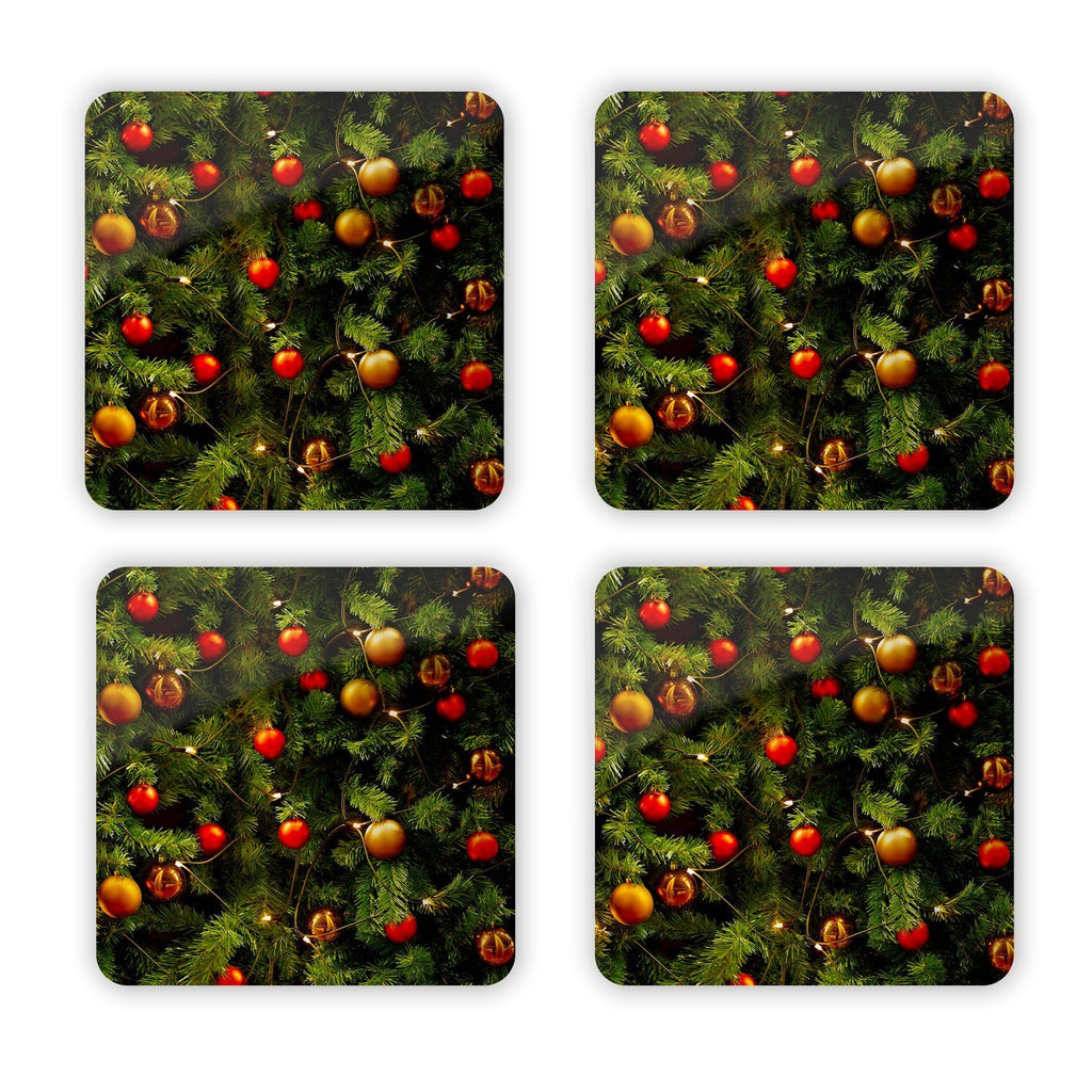 X-Mass Tree Coaster Set-Gooten-| All-Over-Print Everywhere - Designed to Make You Smile
