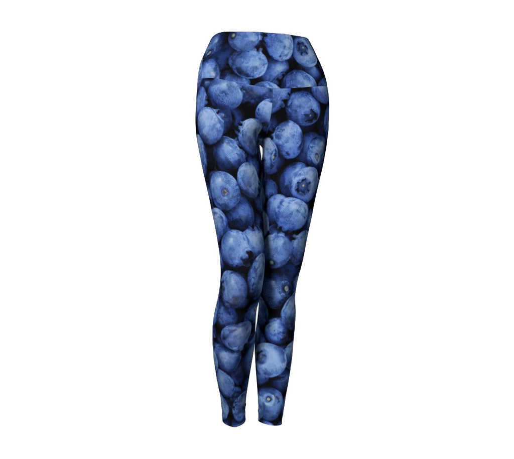Blueberry Invasion Yoga Pants-Shelfies-| All-Over-Print Everywhere - Designed to Make You Smile