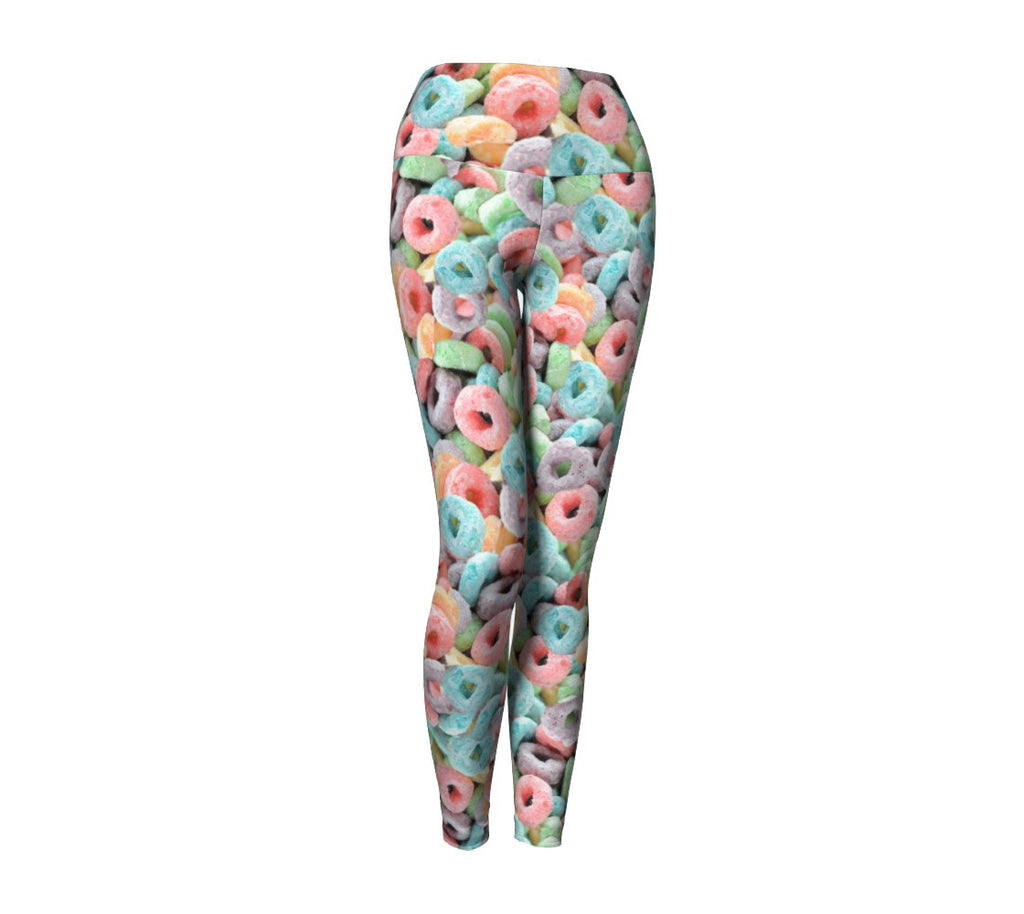 Cereal Invasion Yoga Pants-Shelfies-| All-Over-Print Everywhere - Designed to Make You Smile