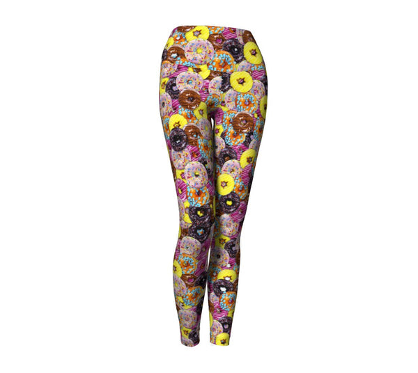 Donut Invasion Yoga Pants-Shelfies-| All-Over-Print Everywhere - Designed to Make You Smile