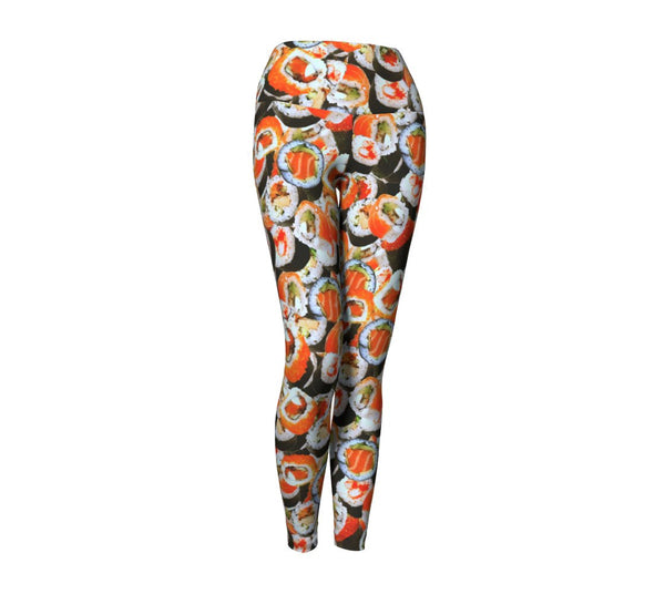 Sushi Invasion Yoga Pants-Shelfies-| All-Over-Print Everywhere - Designed to Make You Smile