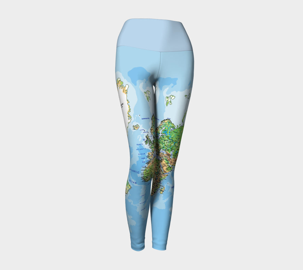 World Map Yoga Leggings-Shelfies-| All-Over-Print Everywhere - Designed to Make You Smile