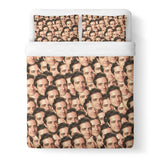 Your Face Custom Duvet Cover-Shelfies-Queen-| All-Over-Print Everywhere - Designed to Make You Smile