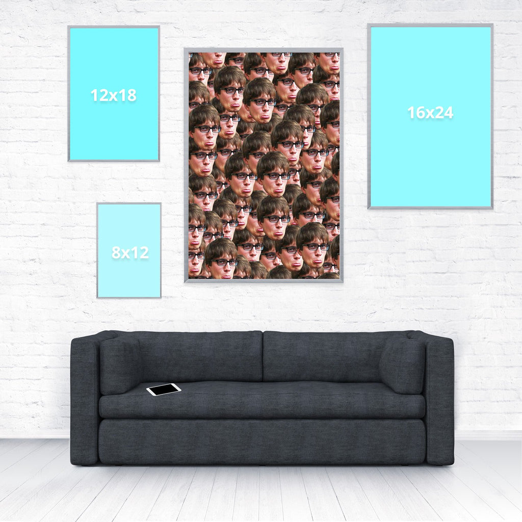 Your Face Custom Poster-Shelfies-20 x 30-| All-Over-Print Everywhere - Designed to Make You Smile