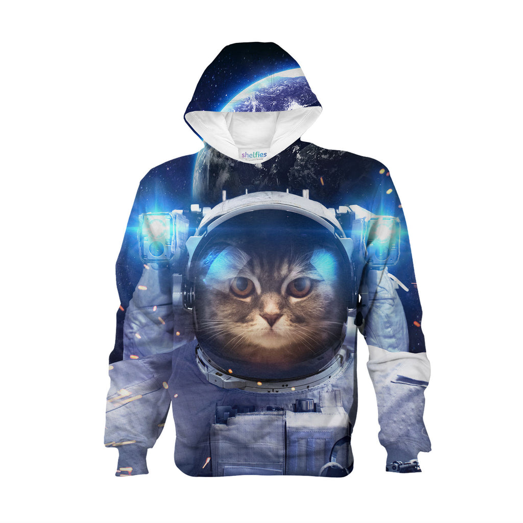 Youth Hoodies - Astronaut Cat Youth Hoodie