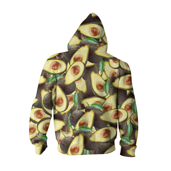 Avocado Invasion Youth Hoodie-Shelfies-| All-Over-Print Everywhere - Designed to Make You Smile