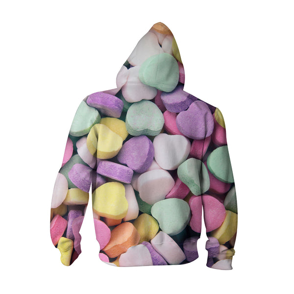 Youth Hoodies - Candy Hearts Youth Hoodie