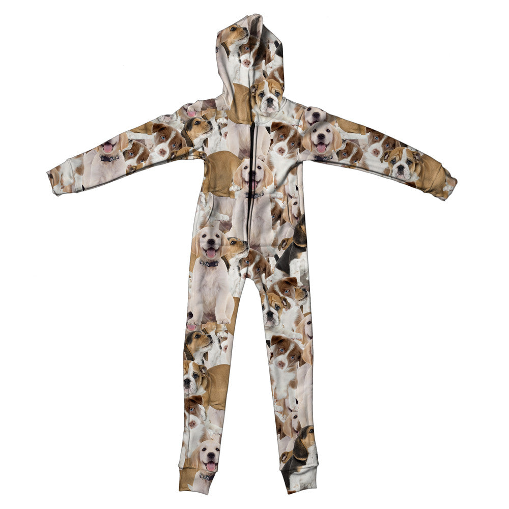 Doggy Invasion Youth Jumpsuit - Shelfies | All-Over-Print Everywhere - Designed to Make You Smile
