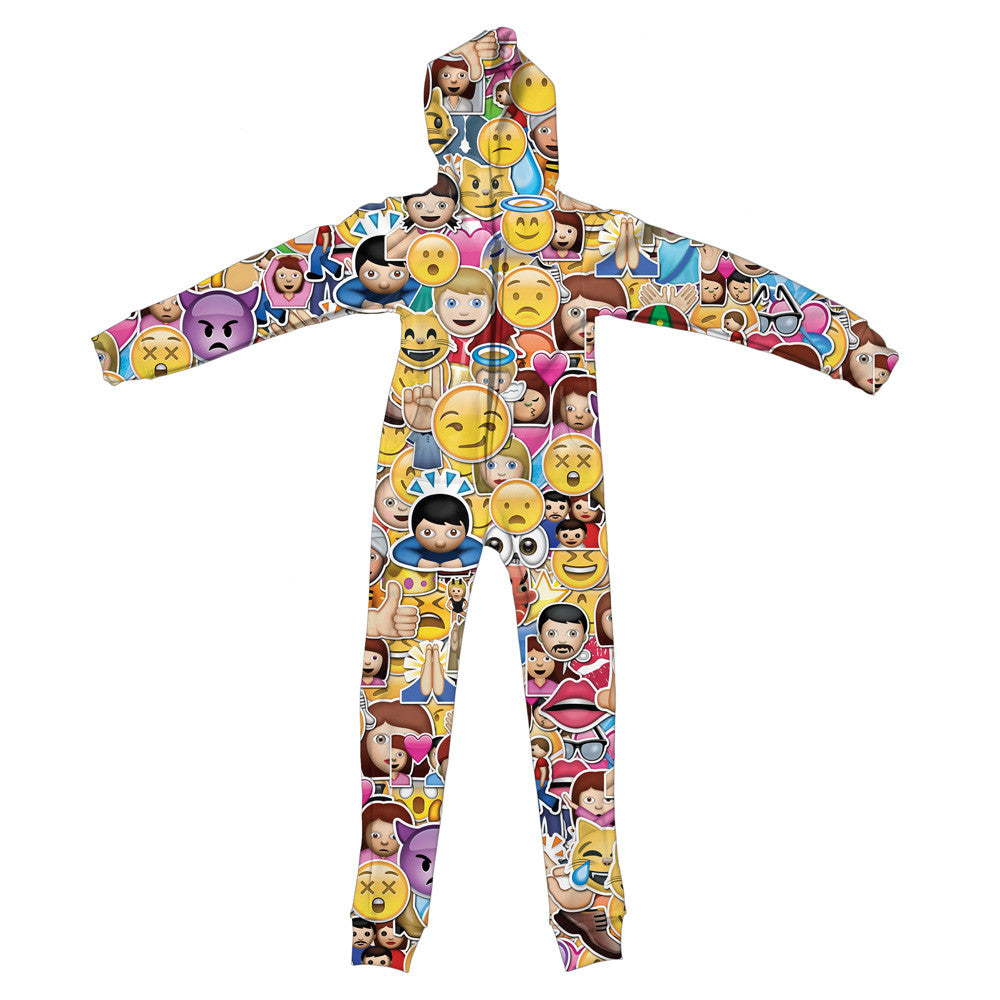 Emoji Youth Jumpsuit - Shelfies | All-Over-Print Everywhere - Designed to Make You Smile