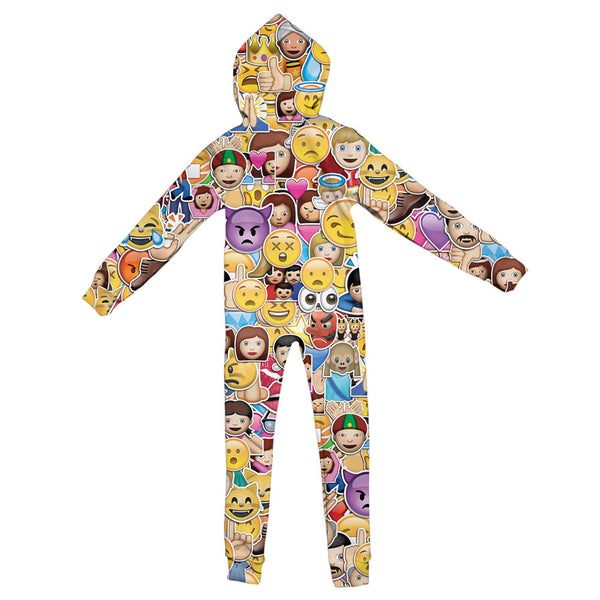 Emoji Invasion Youth Jumpsuit-Shelfies-S-| All-Over-Print Everywhere - Designed to Make You Smile