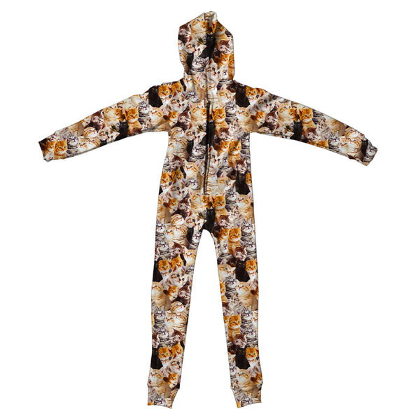 Kitty Invasion Youth Jumpsuit-Shelfies-S-| All-Over-Print Everywhere - Designed to Make You Smile