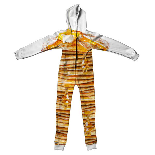 Pancakes Youth Jumpsuit-Shelfies-S-| All-Over-Print Everywhere - Designed to Make You Smile