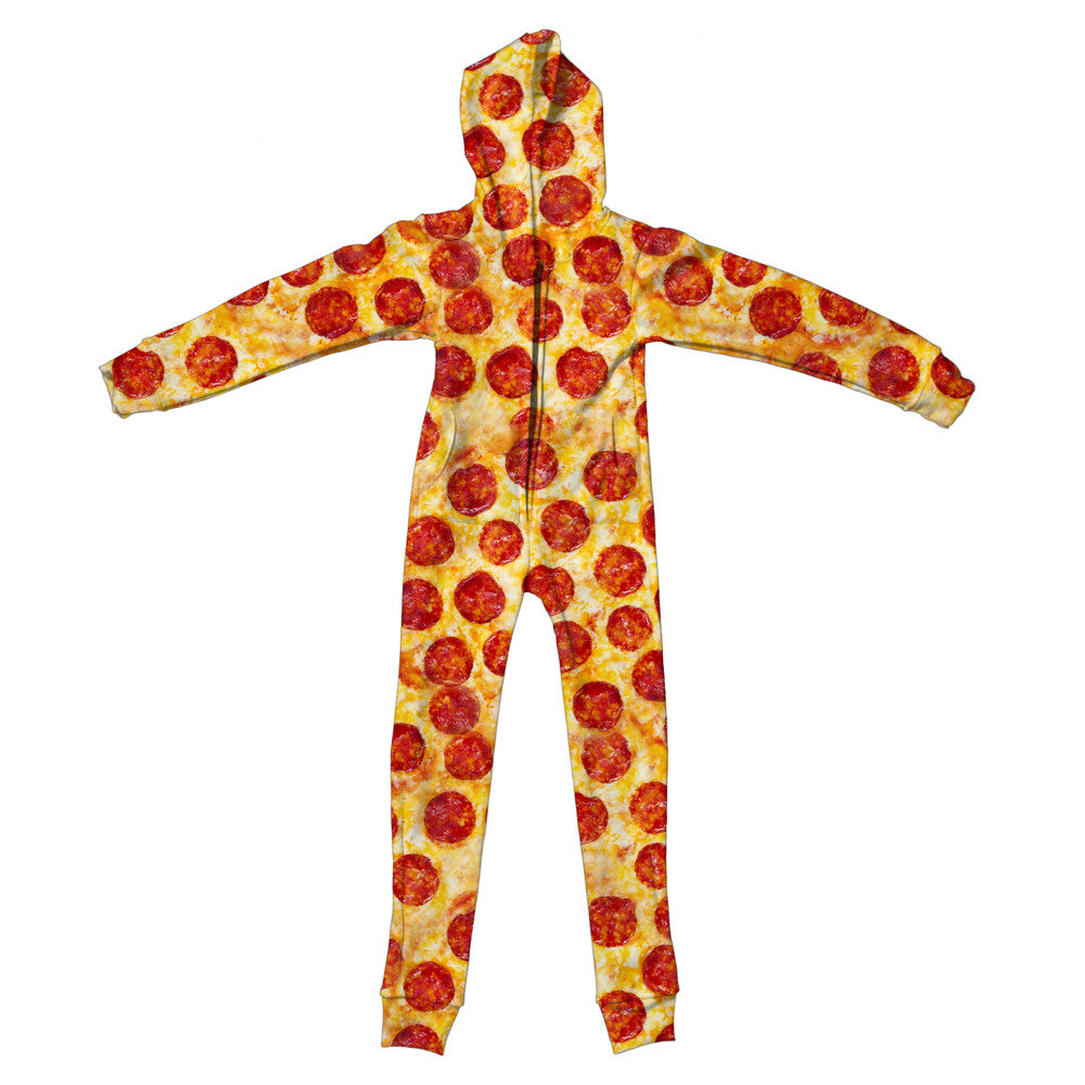 Pizza Invasion Youth Jumpsuit-Shelfies-| All-Over-Print Everywhere - Designed to Make You Smile