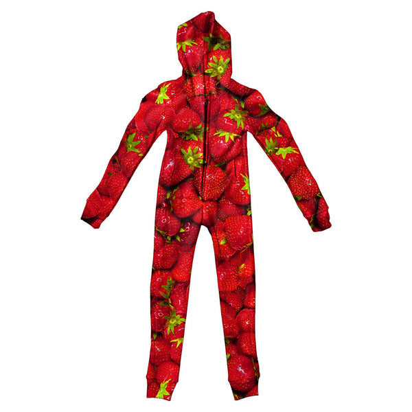 Strawberry Invasion Youth Jumpsuit-Shelfies-S-| All-Over-Print Everywhere - Designed to Make You Smile
