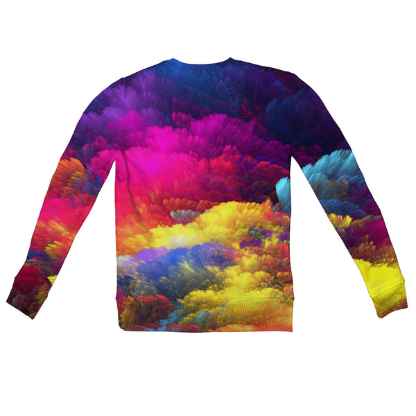 Abstract Colours Youth Sweater-Shelfies-2T-| All-Over-Print Everywhere - Designed to Make You Smile