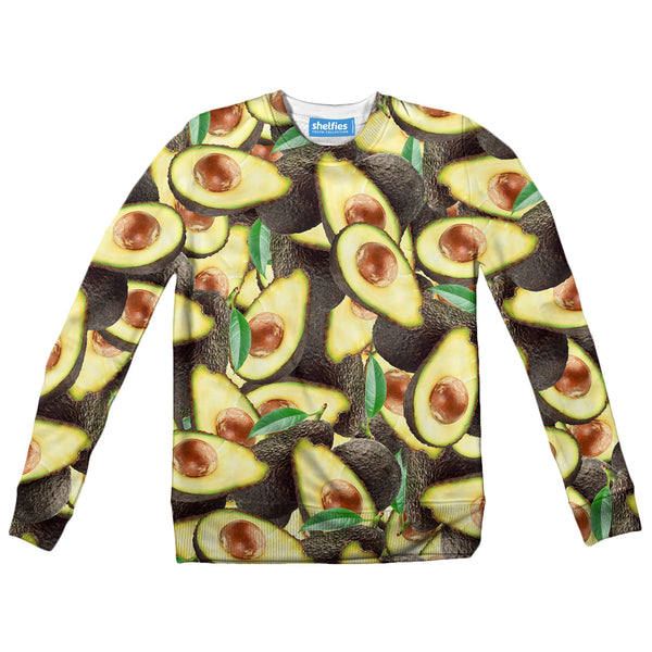 Avocado Invasion Youth Sweater-Shelfies-| All-Over-Print Everywhere - Designed to Make You Smile