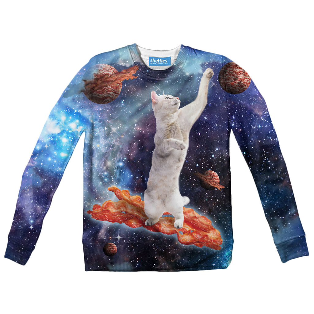 Youth Sweaters - Bacon Cat Youth Sweater