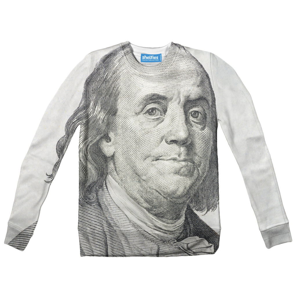 Benjamin Franklin Youth Sweater-Shelfies-2T-| All-Over-Print Everywhere - Designed to Make You Smile