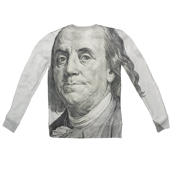 Benjamin Franklin Youth Sweater-Shelfies-| All-Over-Print Everywhere - Designed to Make You Smile