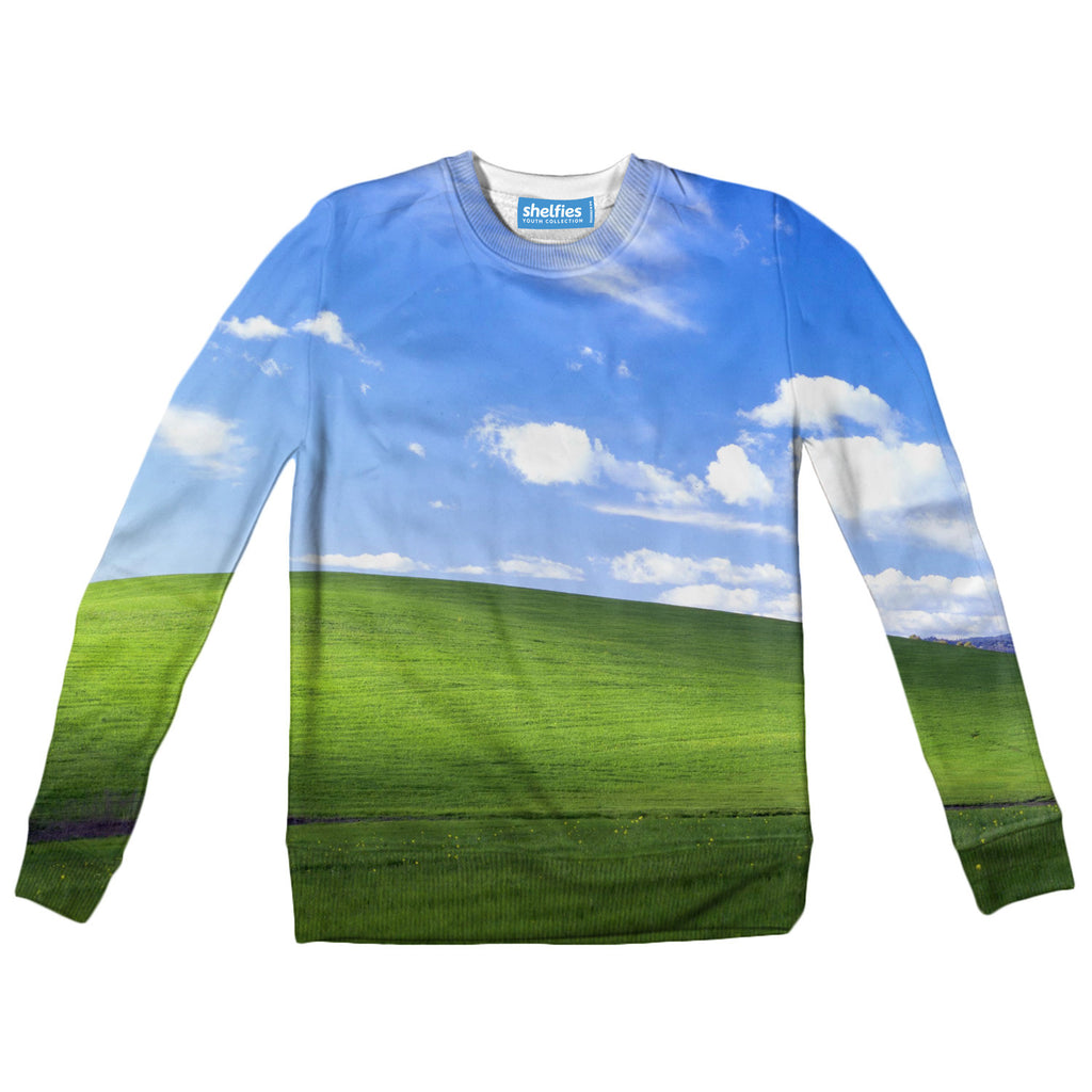 Youth Sweaters - Bliss Screensaver Youth Sweater