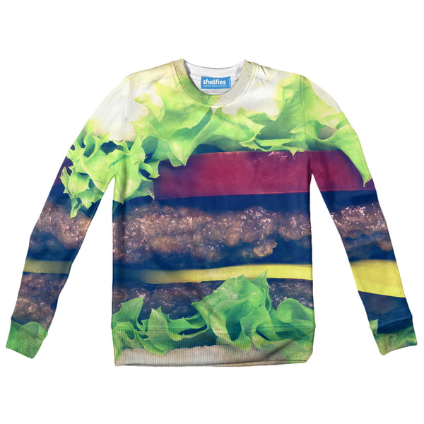 Burger Youth Sweater-Shelfies-2T-| All-Over-Print Everywhere - Designed to Make You Smile