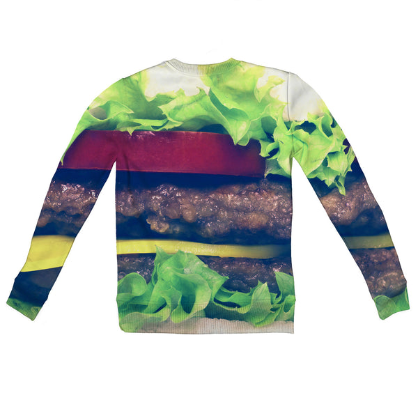 Burger Youth Sweater-Shelfies-| All-Over-Print Everywhere - Designed to Make You Smile