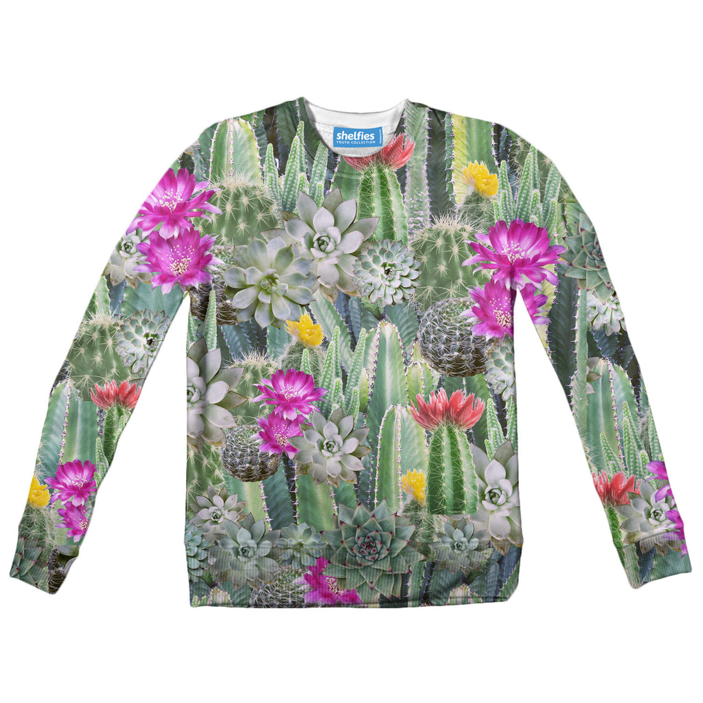 Cacti Invasion Youth Sweater-Shelfies-2T-| All-Over-Print Everywhere - Designed to Make You Smile