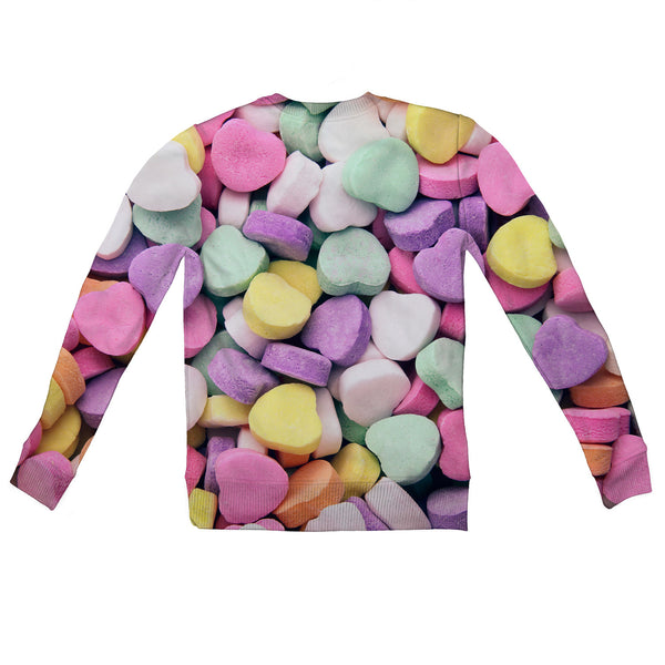 Candy Heart Invasion Youth Sweater-Shelfies-2T-| All-Over-Print Everywhere - Designed to Make You Smile