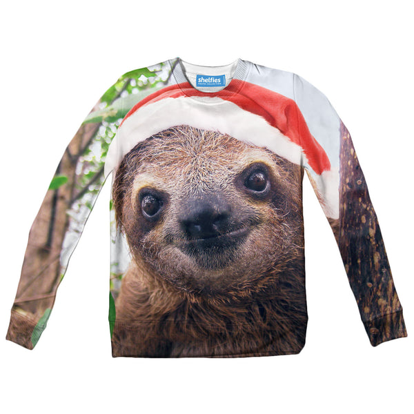 Youth Sweaters - Christmas Sloth Youth Sweater