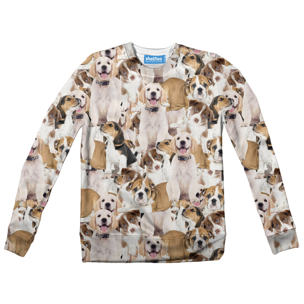 Youth Sweaters - Doggy Invasion Youth Sweater