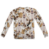 Doggy Invasion Youth Sweater-Shelfies-| All-Over-Print Everywhere - Designed to Make You Smile