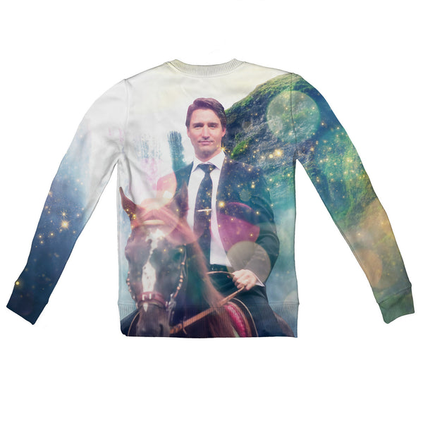 Dreamy Trudeau Youth Sweater-Shelfies-| All-Over-Print Everywhere - Designed to Make You Smile