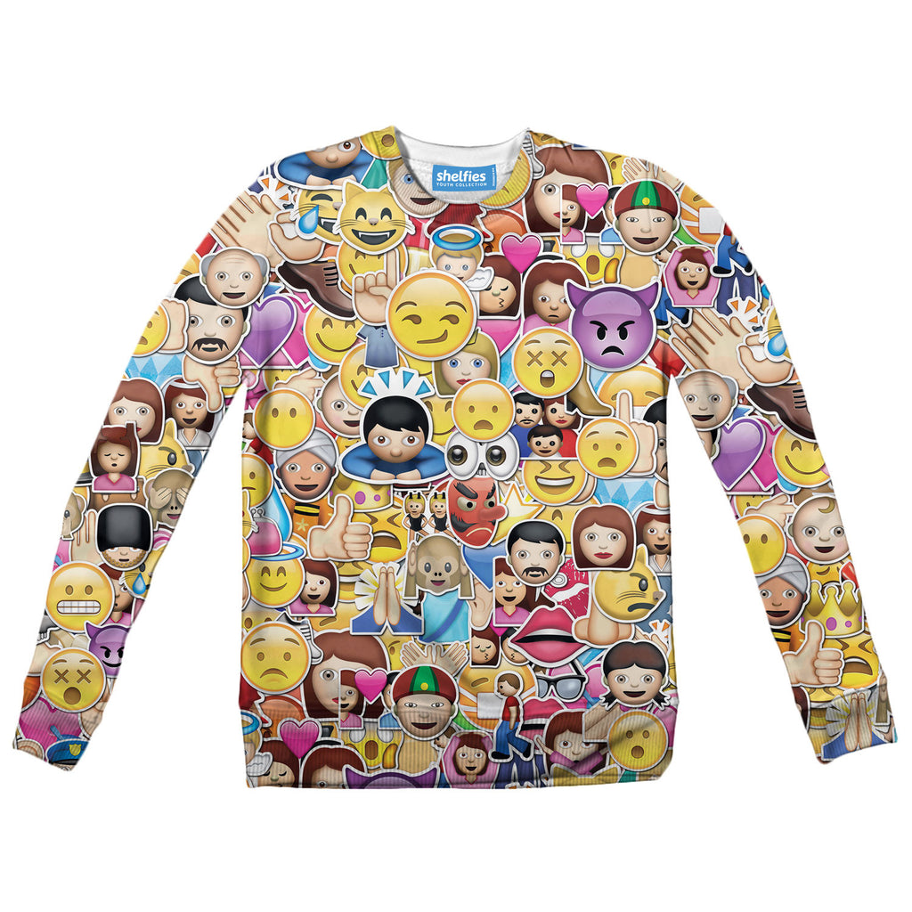 Youth Sweaters - Emoji Madness Youth Sweater