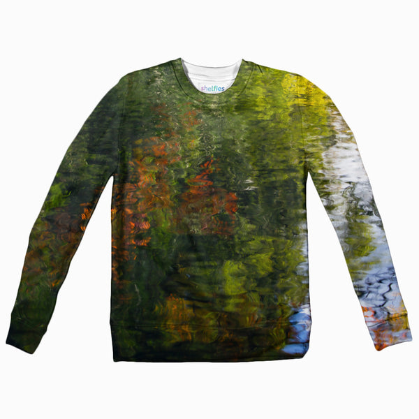 Fall Reflection Youth Sweater-Shelfies-| All-Over-Print Everywhere - Designed to Make You Smile