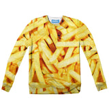 French Fries Invasion Youth Sweater - Shelfies | All-Over-Print Everywhere - Designed to Make You Smile