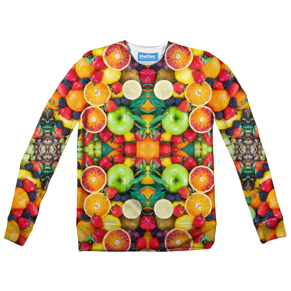 Fruit Explosion Youth Sweater-Shelfies-| All-Over-Print Everywhere - Designed to Make You Smile