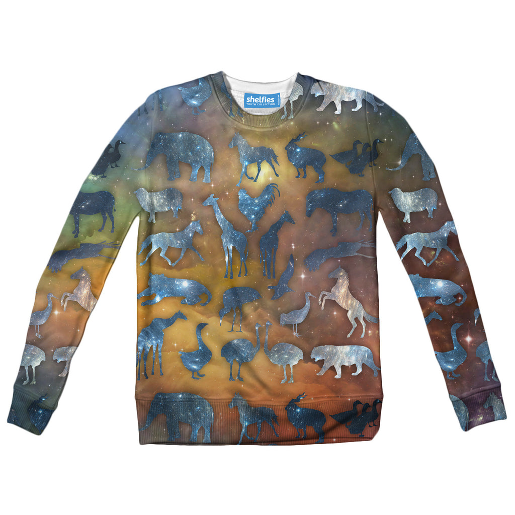 Youth Sweaters - Galaxy Zoo Youth Sweater