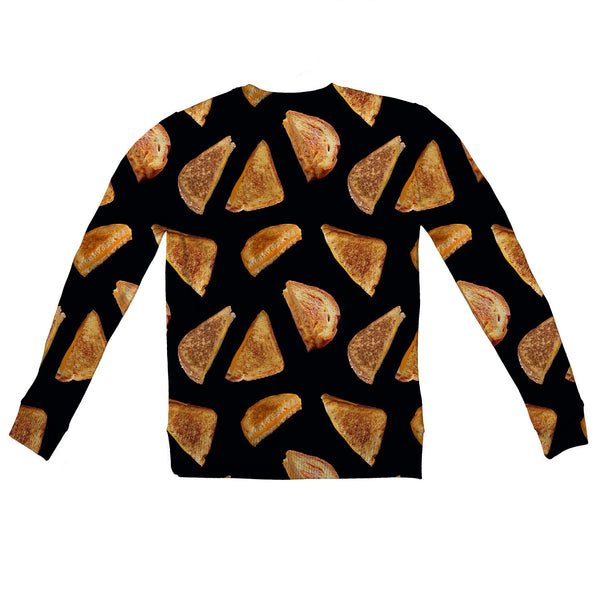 Grilled Cheese Youth Sweater-Shelfies-| All-Over-Print Everywhere - Designed to Make You Smile