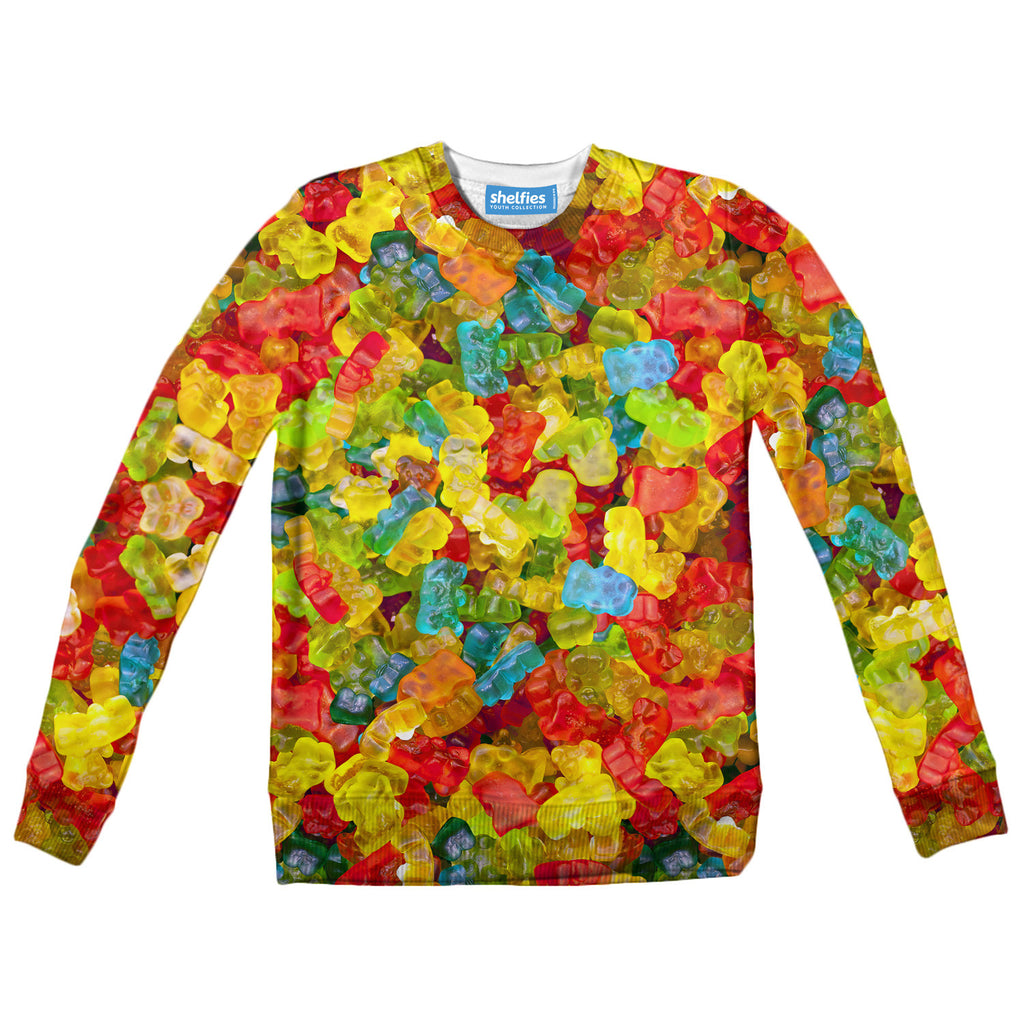 Gummy Bears Invasion Youth Sweater-Shelfies-| All-Over-Print Everywhere - Designed to Make You Smile