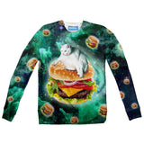 Hamburger Cat Youth Sweater-Shelfies-2T-| All-Over-Print Everywhere - Designed to Make You Smile