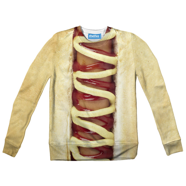 Hot Dog Youth Sweater-Shelfies-| All-Over-Print Everywhere - Designed to Make You Smile
