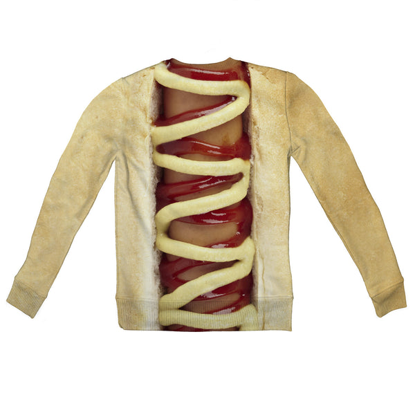 Hot Dog Youth Sweater-Shelfies-2T-| All-Over-Print Everywhere - Designed to Make You Smile
