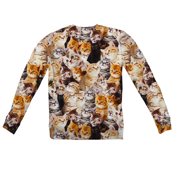 Youth Sweaters - Kitty Invasion Youth Sweater