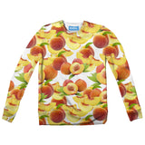 Suave Peaches Youth Sweater-Shelfies-| All-Over-Print Everywhere - Designed to Make You Smile