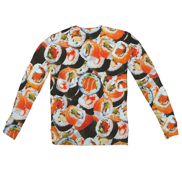 Sushi Invasion Youth Sweater-Shelfies-| All-Over-Print Everywhere - Designed to Make You Smile